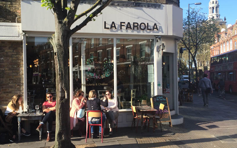 Spring Showers La Farola Cafe